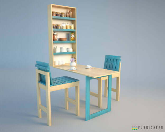 Blue natural folding dining table_01 (1)