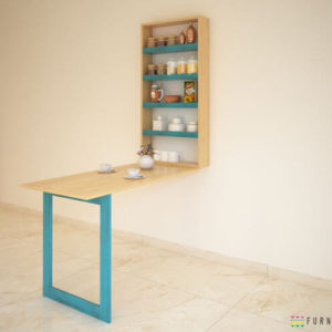 Blue natural folding dining table_04 (1)