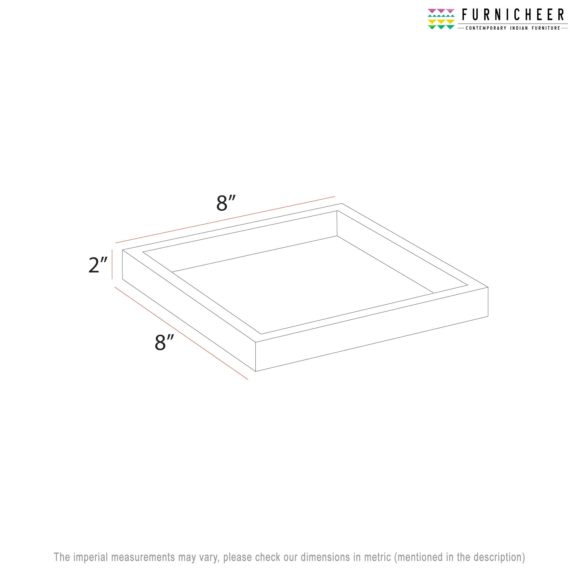 SERVING TRAY 8 X 8