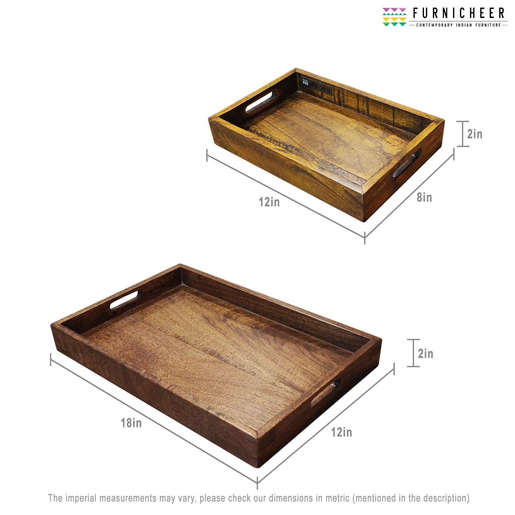 SERVING TRAY SET OF 2