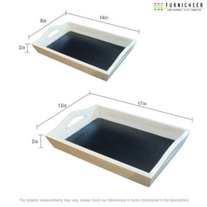 SERVING WHITE TRAY