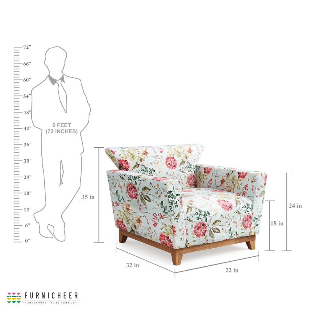 ZINNIA ARMCHAIR MEASUREMENTS
